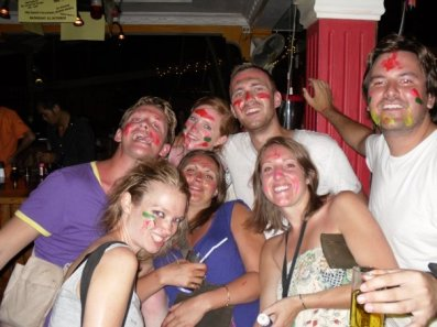 Messy night out in cambodia