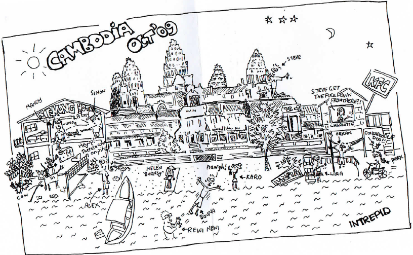 intrepid gang in Cambodia 2009