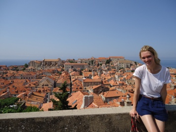 View from the wall round Dubrovnik