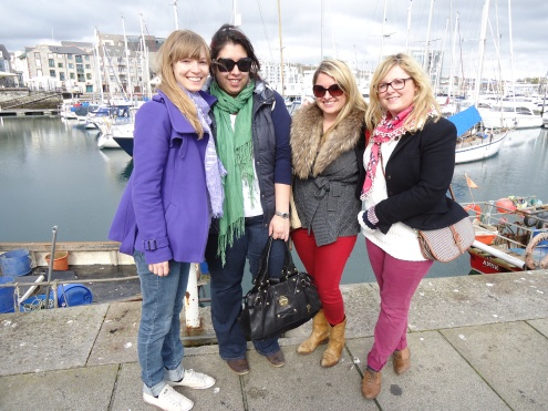 Caroline, Cel, Laurie and Dickie at Plymouth Harbour Mar 2012