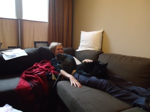 Me and my cats, Shadow and Archimedis