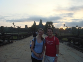 Hugh and I in Ankor Wat