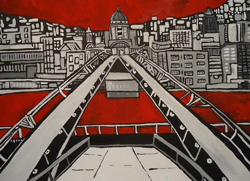 Millennium Bridge 2012 30x40cm (Not for Sale)