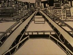 Millennium Bridge in progress
