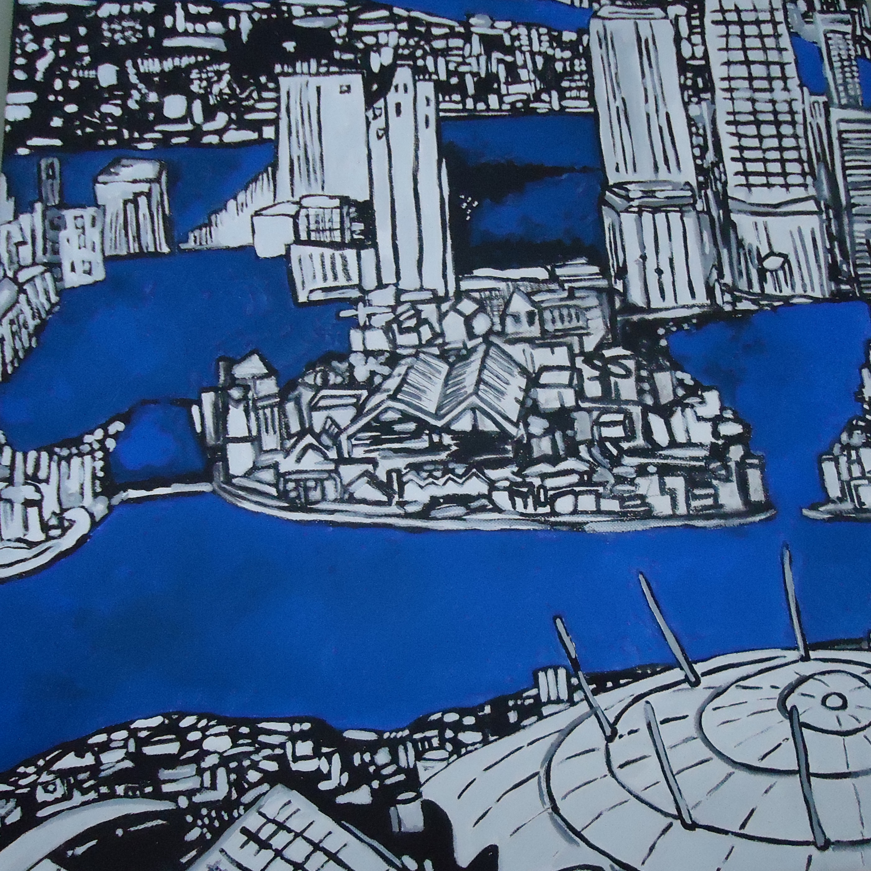 Copy of Rowan Finch Millennium Dome 2012 50x50cm (Not for Sale)