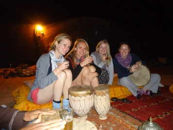 Drinking berber whiskey (very strong mint tea)