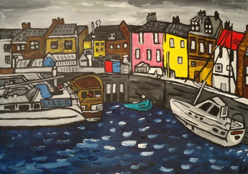 Scottish Harbour Nov 2013 30x40cm (SOLD)