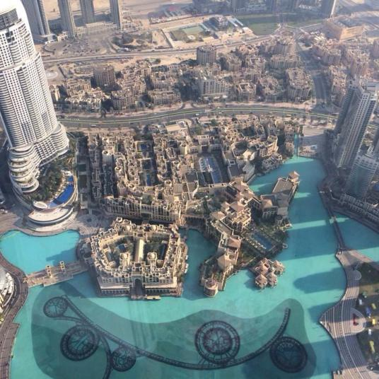 Dubai from the top of the tallest building (by Celine)