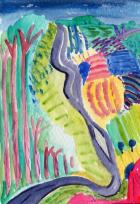49- Getting up Garrowby Hill by David Hockney