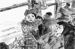 5-Chinese Railway passengers by Wang Fuchun