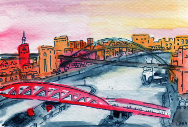 52- Newcastle sunset