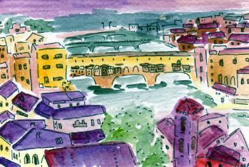 59- Florence bridges night