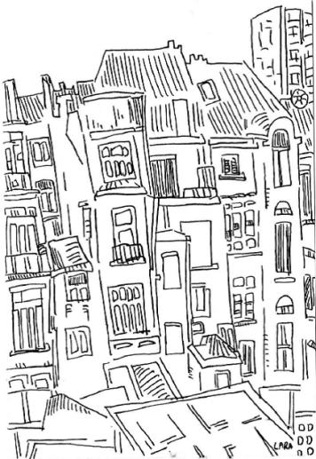 Sketch of postcard 2