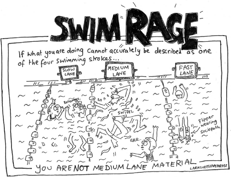 Medium Lane swim rage