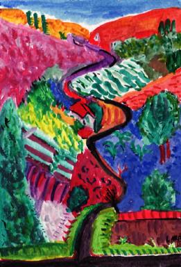 65A- Nichols Canyon by David Hockney