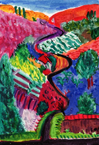 65A- Nichols Canyon by David Hockney