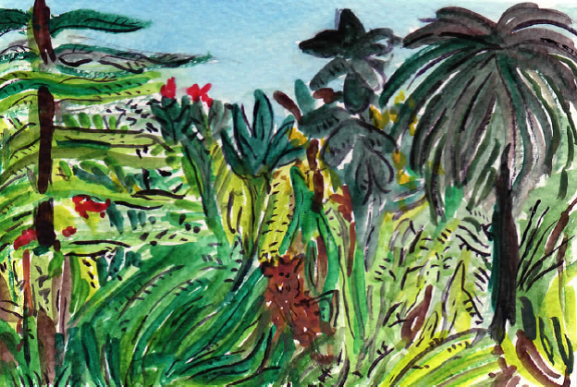 75A - Jungle painting by Henri Rousseau