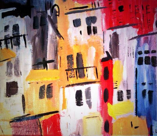 Flagey Feb 2014 30x40cm (SOLD)