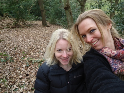 Ro and I on the Woodland walk