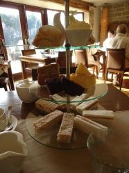 Yum high tea at the Moddershall Oaks