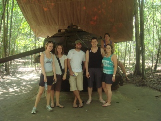 Near the tunnels in Vietnam