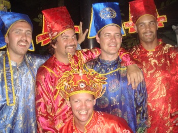 Boys in traditional Vietnamese dress