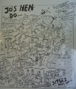 Hen Do cartoon Sitges April 2014