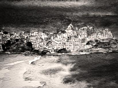 149 - Bondi Beach Black and White
