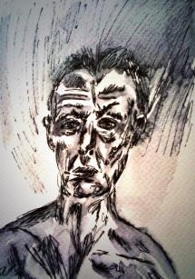 166a- Lucien Freud self portrait
