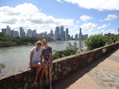 Brisbane city on the river