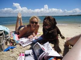 Nina and Hector on the beach