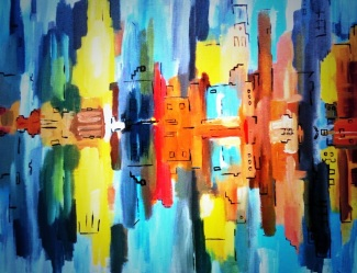 NYC Reflections July 2014 50x40cm EU 200
