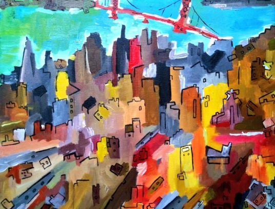 San Francisco Revolution City July 2014 40 x50cm (SOLD)