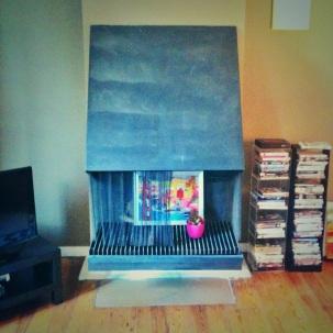 We have a very odd fireplace