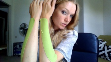 Taped up arms