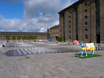 Granary Square fountains