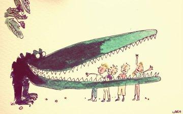 197a - Crocodile Quentin Blake