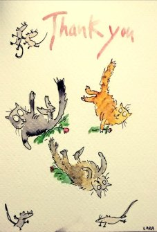 205a-Thank you cats Quentin Blake