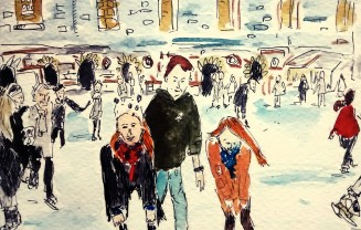 206- Somerset House ice skating