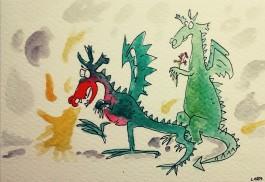 206a- Quentin Blake dragons