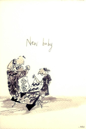 209a New Baby Quentin Blake