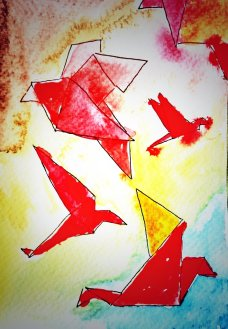 237-Origami Birds