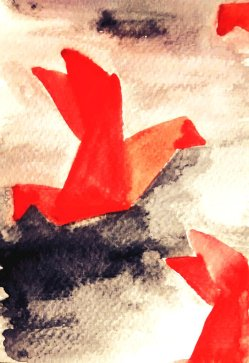 238- Origami Birds