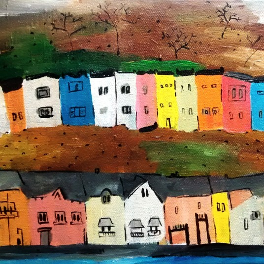 Bristol painted houses September 2014 24x30cm EU 75