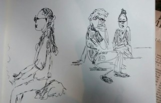 People sketches for charicatures