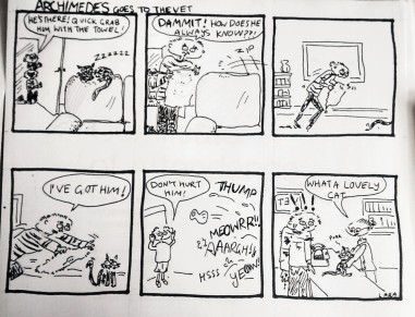 Not so finished 6 panel cartoon strip