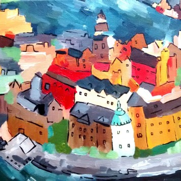 Stockholm September 2014 30x40cm (SOLD)