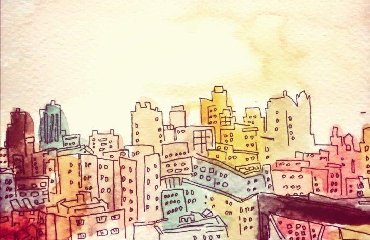 254- NYC sunset