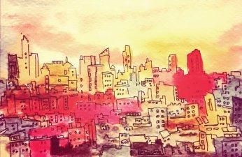 255- NYC sunset