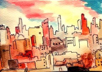 256- NYC sunset